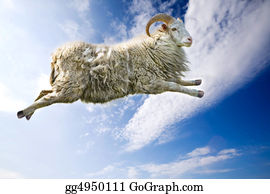 Goat-Cartoon - Flying Sheep