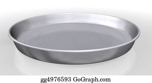 Butler - Silver Tray Service On White Background