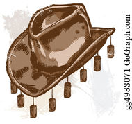 Australian - Vector Illustration Of A Cowboy Or Australian Style Hat