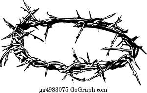 God - Crown Of Thorns Vector Illustration