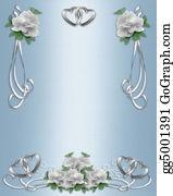 Valentine-Border-Hearts-Frame - Wedding Invitation Border White Ros