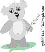 Eucalyptus - Koala Bear With Eucalyptus Branch