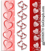 Valentine-Border-Hearts-Frame - Valentine 3 Borders Hearts