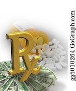 Prescription-Drugs - High Cost Of Medicine Symbol