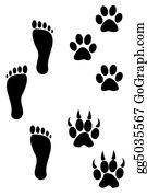 Bear-Paw - Foot And Paw Prints