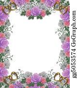 Valentine-Border-Hearts-Frame - Wedding Invitation Roses Border