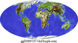 Map-Of-India - Globe, Shaded Relief