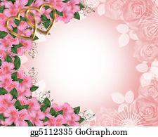 Valentine-Border-Hearts-Frame - Wedding Invitation Border Pink Azaleas