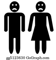 Sad - Man And Woman Silhouette - Sad Faces