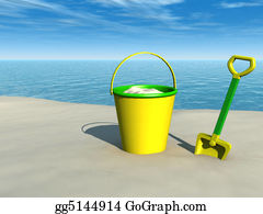 Spade - Bucket And Spade On The Beach