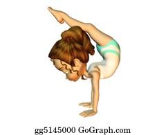 Gymnast - Girl Doing Gymnastics
