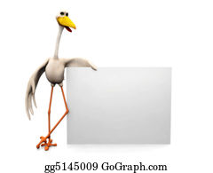 Stork - Stork With Sign