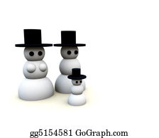 Christmas-Family - Snowman Family