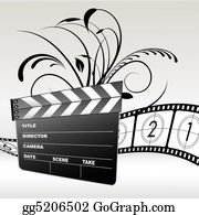 Movie-Production - Movie Clapboard
