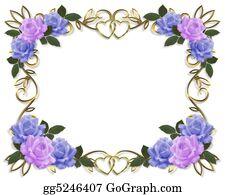 Valentine-Border-Hearts-Frame - Roses Border Wedding Invitation