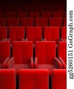 Perform - Auditorium With Red Seat