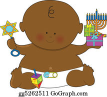 Safety-Pins-And-Diaper - Baby Hanukkah Black