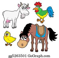 Goat-Cartoon - Farm Animals Collection 2