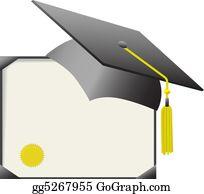 Graduation - Mortarboard Graduation Cap & Diploma Certificate