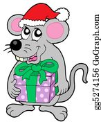 Furry-Tail - Christmas Mouse With Gift