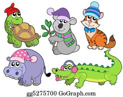 Croc - Animals In Winter Clothes Collection 1