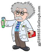 Professor - Cartoon Scientist -