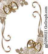 Valentine-Border-Hearts-Frame - Sepia Roses Wedding Invitation