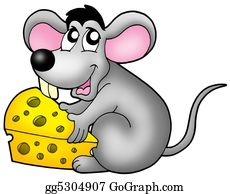 Furry-Tail - Cute Mouse Holding Cheese