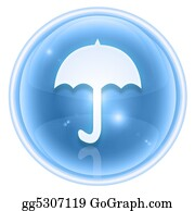 Umbrella - Umbrella Icon Ice, Isolated On White Background