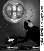 70s - Dj And Disco Ball