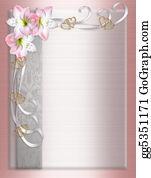 Valentine-Border-Hearts-Frame - Wedding Invitation Border Satin