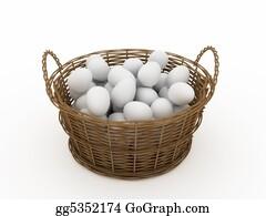 Basket - Basket With Eggs
