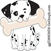 Huskies - Dalmatian With Bone