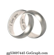 Golden-Love-Hearts - Wedding Bands Silver