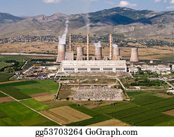 Fossil - Fossil Fuel Power Plant, Aerial