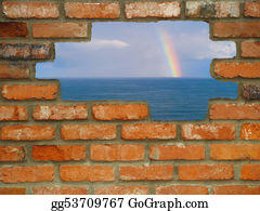 Wall-Background - Hole In The Wall Rainbow Escape