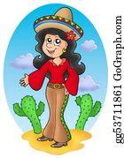 Mexican-Girl - Cute Mexican Girl In Desert