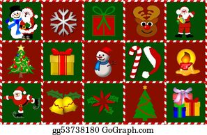 Reindeer-Christmas-Silhouettes - Christmas Symbols Collage
