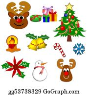 Reindeer-Christmas-Silhouettes - Christmas Symbols Isolated