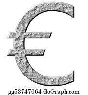 Hard-Cash - 3d Stone Euro Symbol