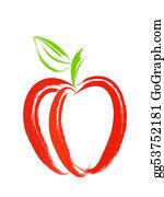 Paint-Brush - Red Apple