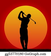 Obstacle-Course - Golf Player In Sunset