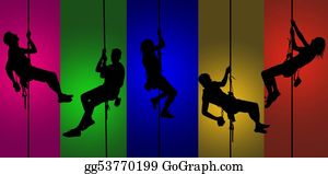 Climbing - Climbing Silhouettes Background