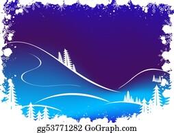 Fir-Tree - Grunge Winter Background