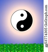 Rudeness - Ying Yang Sign Background
