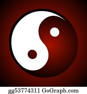 Rudeness - Ying Yang Sign Red