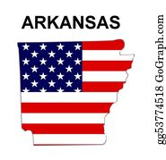 Map-Of-West-Virginia - Usa State Of Arkansas In Stars And Stripes Design