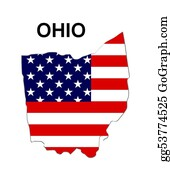 Map-Of-West-Virginia - Usa State Of Ohio In Stars And Stripes Design