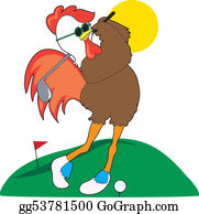 Poultry - Rooster Golfer