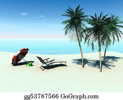 Spade - Deck Chair On A Tropical Beach.